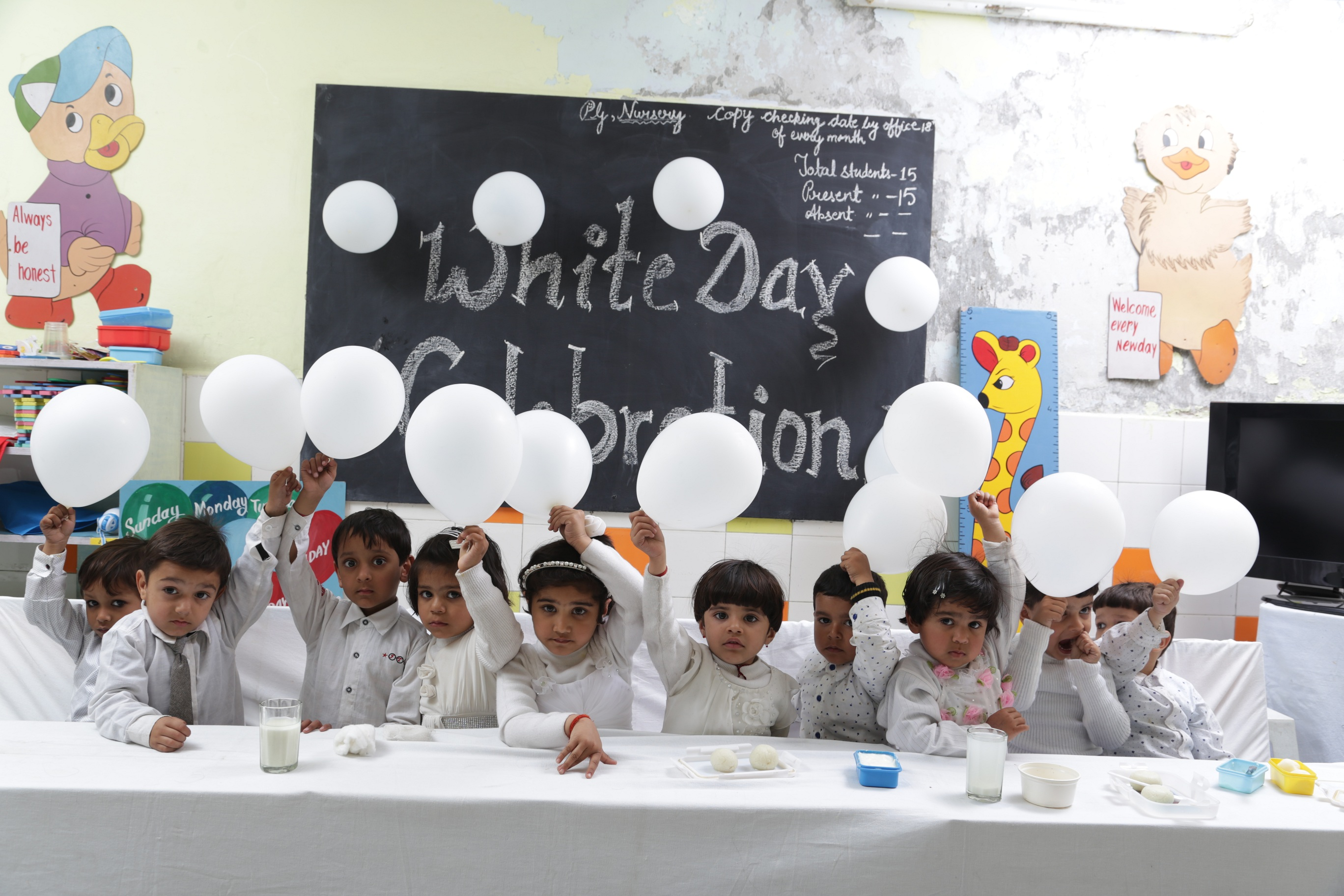 Jolly angels kids White day celebration